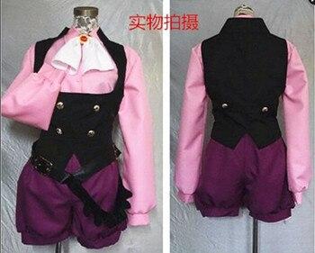 Japonia Hot Anime gra Persona 5 cosplay Goro Akechi Cos Halloween party 8in1 (koszula + kamizelka + krawat + spodnie + pasek + rękawiczki + czapka + strusia włosów)