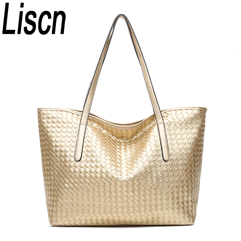 LISCN Ladies New European And American Fashion Handbags Casual Shoulder Bag High Quality Woven Bag Classic Elegant Tote Bag