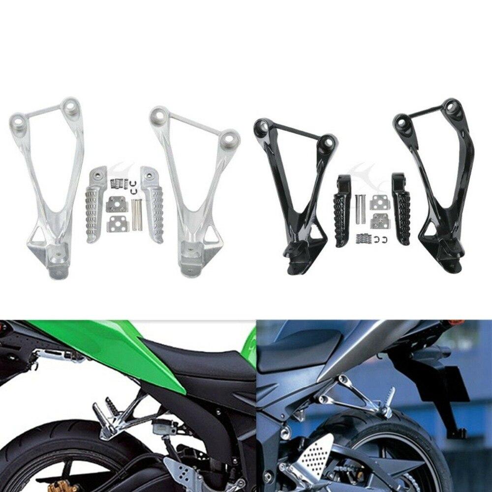 Motorcycle Passenger Rear Foot Pegs Rest FootRest Bracket For Kawasaki Ninja ZX6R 05 06 07 08 ZX636 2005-2006