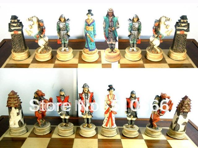 Country Of Japan Theme Chess Set In Inimitable In Resin Best Gift For Friend Client