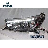 VLAND фабрика для автомобиля фара для Revo светодиодный фар 2015 2016 2017 Vigo Hilux светодиодный головного света с дневной свет H7 ксеноновая лампа