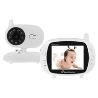2018 2 4G Wireless Digital 3 5 LCD Baby Monitor Camera Audio Talk Video Night Vision