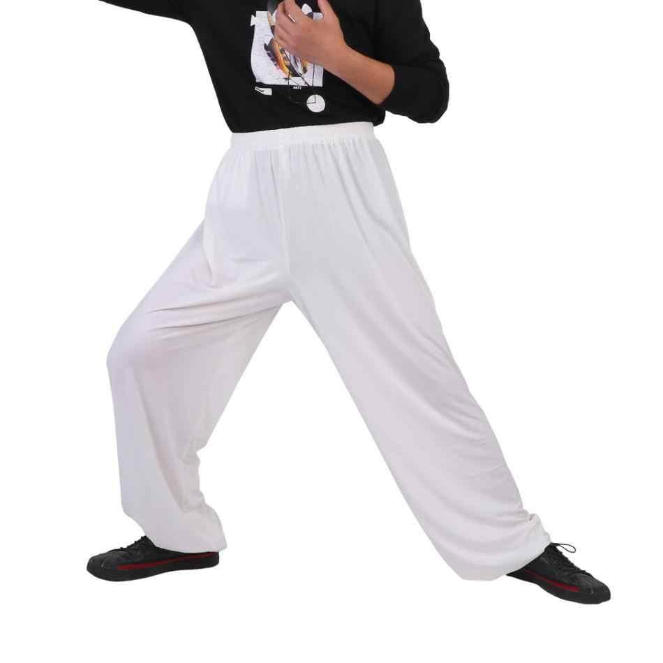 4a8808217 ... Men Chinese Martial Arts Pants Tai Chi Pants Kung Fu Uniform Women Yoga  Running Sports High ...