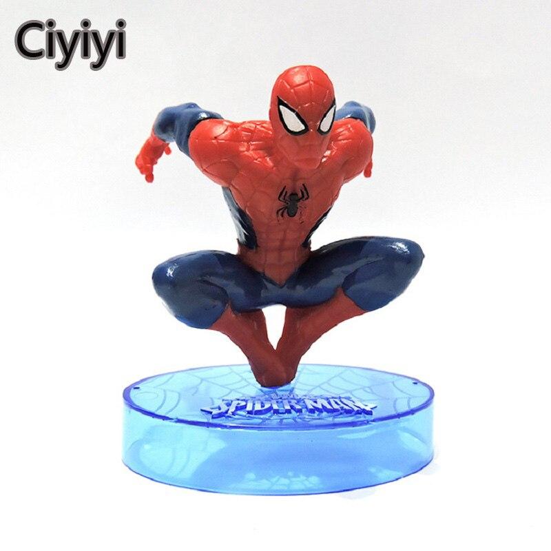 3pcs lot marvel s spider man jump pose action figure model toy
