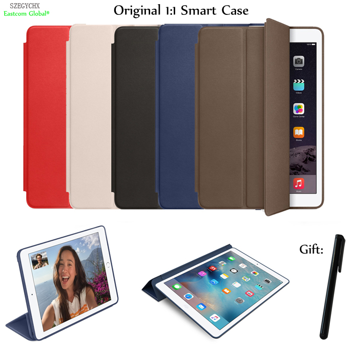 Original 1:1 With LOGO Smart Cover Stand Case For iPad 2 for ipad 3 for ipad 4 PU Leather Auto Sleep / Wake Protective Shell protective pu leather case cover w stand auto sleep for ipad air 2 deep pink