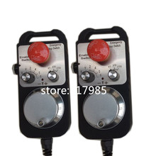 Best price 6 Axis Pendant Handwheel with Emergency Stop manual pulse generator MPG for Siemens, MITSUBISHI, FANUC etc