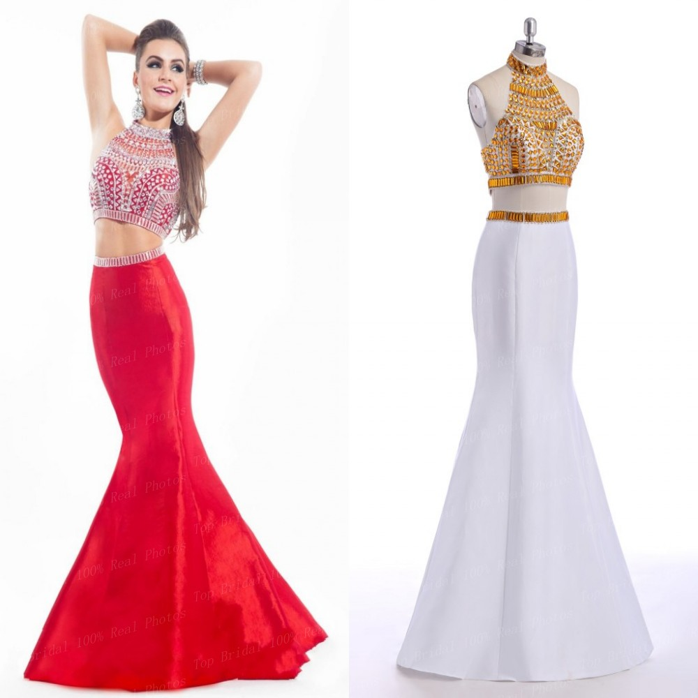 White And Gold Prom Dresses Long - Gowns and Dress Ideas