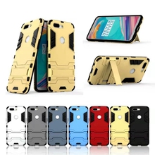 Case For Oneplus 5T Luxury Shockproof Armor Rubber Hard PC Cover Anti-Fall Soft Edge Full Back