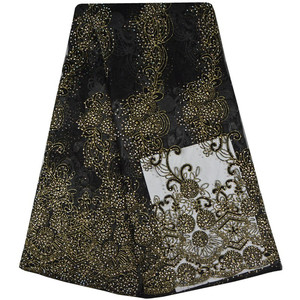 Image 5 - Tulle Embroidered Net Lace African French Laces Fabrics High Quality Nigerian French Net Lace With Stones Swiss Lace Fabric S697