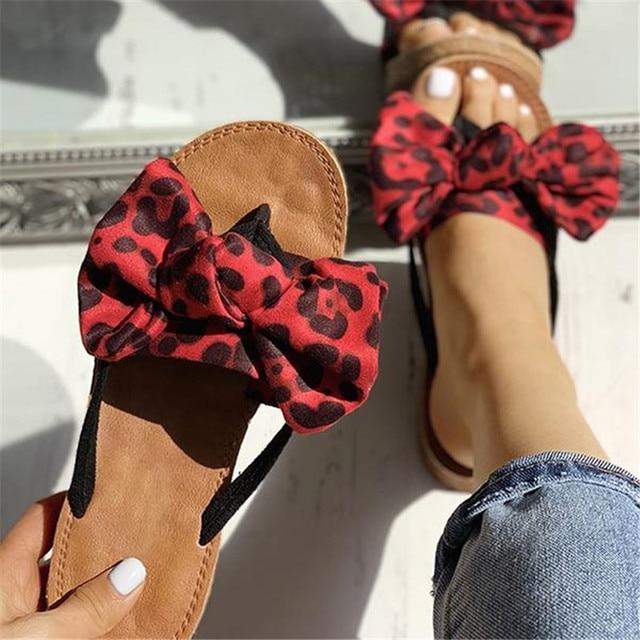 Arco Chinelos de Linho Mulheres Sommer Sandálias de Verão Chinelo Interior Ao Ar Livre-flops Praia Sapatos Sapatos de Leopardo Moda Feminina Floral