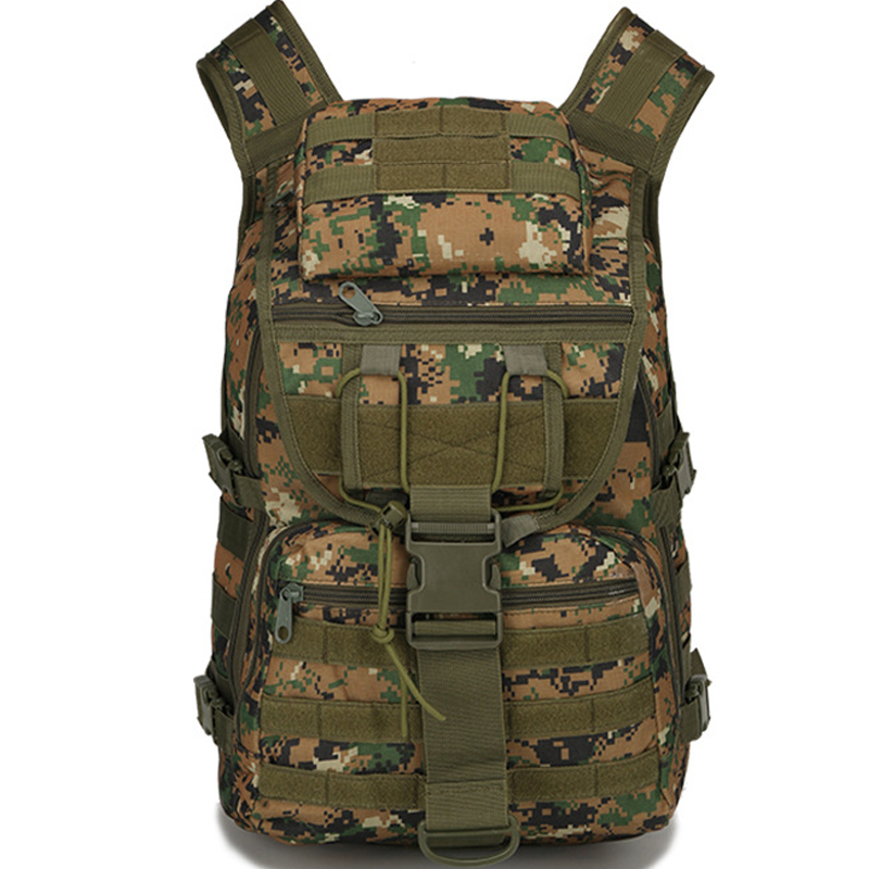 40L Oxford Military Camouflage Backpack Bags Male Outdoor Travel Climbing Camping Sports Waterproof Tactical Molle Shoulder
