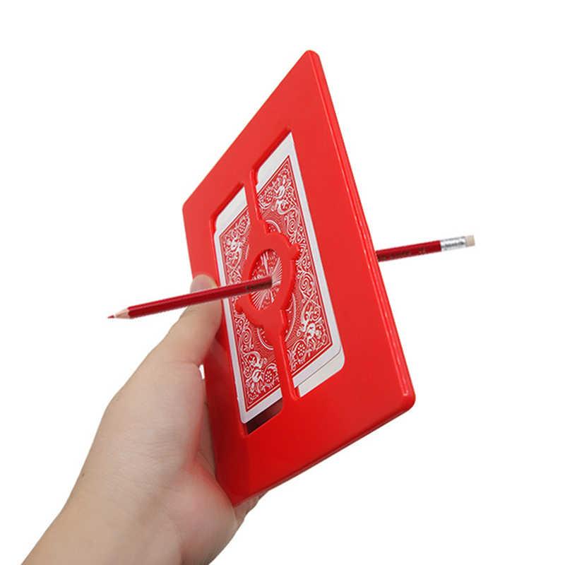 Магия проникновение рамка карандаш через карты и кадр фокусы Фокусника Закрыть трюк реквизит ментализм комедии Magie детские игрушки