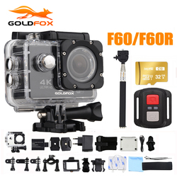 Goldfox 16MP 4K Wifi Action Camera 170D Wide Lens 30M Underwater Camera Go Waterproof Pro Sport DV Bike Helmet Cam