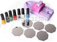 DIY Professional Manicure Pedicure Nail Art DIY Color Printing Machine Polish Stamp 6 Pcs Pattern Template
