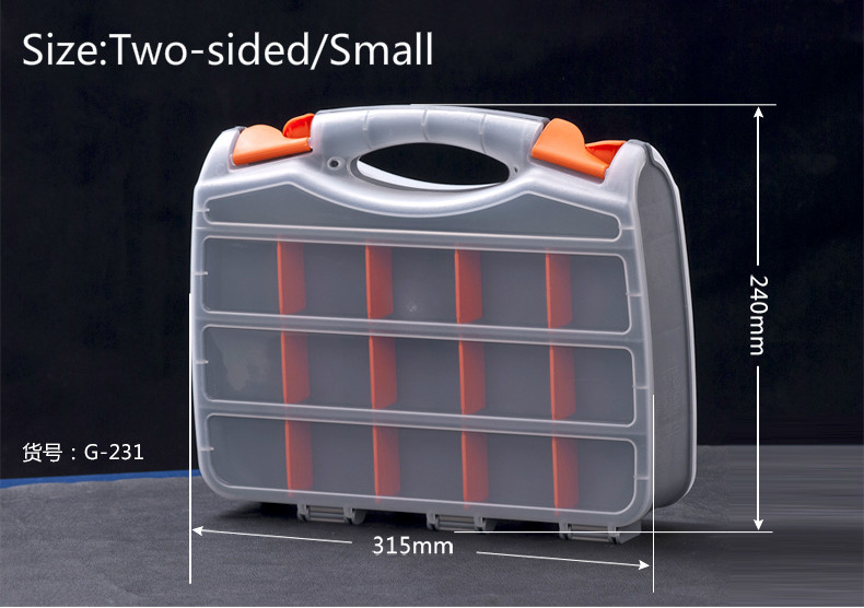 Werkzeugkästen Ehrlich Schraube Box Tool Box Kunststoff Teile Box Der Elektronische Element Box Probe Klassifizierung Lagerung Zwei-seitig/kleine
