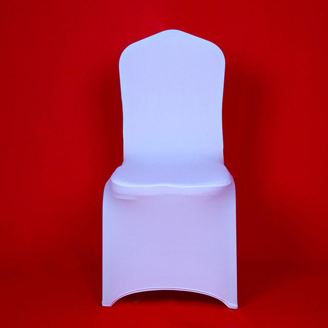 100 pcs white stretch lycra chair cover christmas party cheap spandex chair covers for wedding banquet