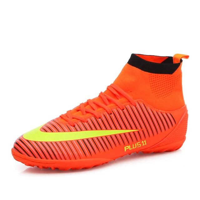 b838802fc6 Indoor futsal futebol botas sapatilhas homens Baratos chuteiras de futebol  superfly original meia futebol sapatos com