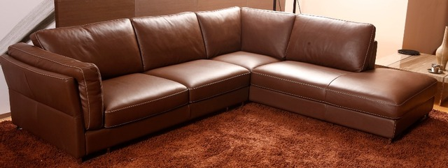 US $854.05 5% OFF|European Style Living Room Furniture Top Genuine Leather  sofa chesterfield L shape Living Room Sofa sectional modern home-in Living  ...