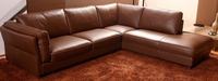European Style Living Room Furniture Top Genuine Leather Sofa Chesterfield L Shape Living Room Sofa Sectional