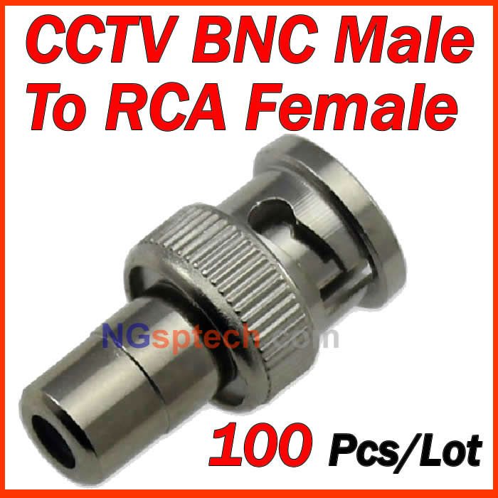 100pcs BNC Male to RCA Female Coax Cable Connector Adapter F/M Coupler for CCTV Camera 5pcs bnc male to rca male coax cable connector adapter f m coupler for cctv camera cable connector accessories