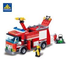 Kazi 8054 Bloques De Camión De Bomberos 206 unids Ladrillos Bloques Huecos de los Juguetes Educativos Para Los Niños