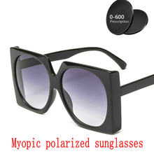 17999a14ff 2019 Hot Custom Made Myopia Minus Prescription Polarized Lens Sunglasses  for women Designer Vintage Driving Sun