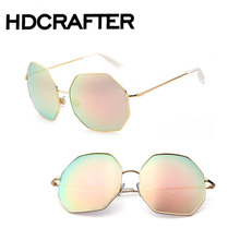 Ladies  Fashion Retro Vintage Cat Eye Sunglasses Mirror Female. Luxury Brand Designer Sun Glasses For Women