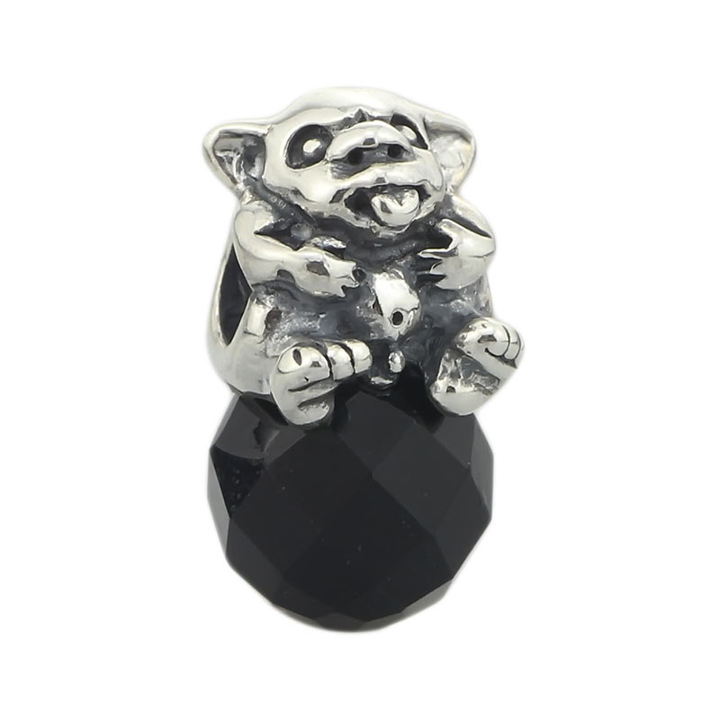Genuine 925 Sterling Silver Baby Troll Charm Bead Fit European Troll 3mm Bracelet & Necklace Jewelry юбка troll troll tr798ewiaw73