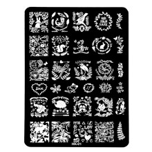 1PC HK-Series DIY Nail Art Image Stamp Stamping Plates Rabbit/Panda/Owl/Squirrel Cartoon Manicure Template Tools