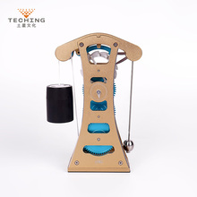 Teching Galileo Pendulum Clock Full Aluminum Alloy Assembly Building Model Kits Toy for Collection Research / Study Gift