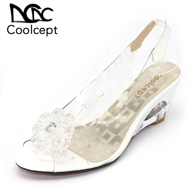big sale 8523b e1269 US $32.99 |Coolcept Größe 34 43 Frauen Schuhe Preis Rom stilvolle  hochwertige mode keil ferse sandalen kleid casual schuhe damen sandalen in  Coolcept ...