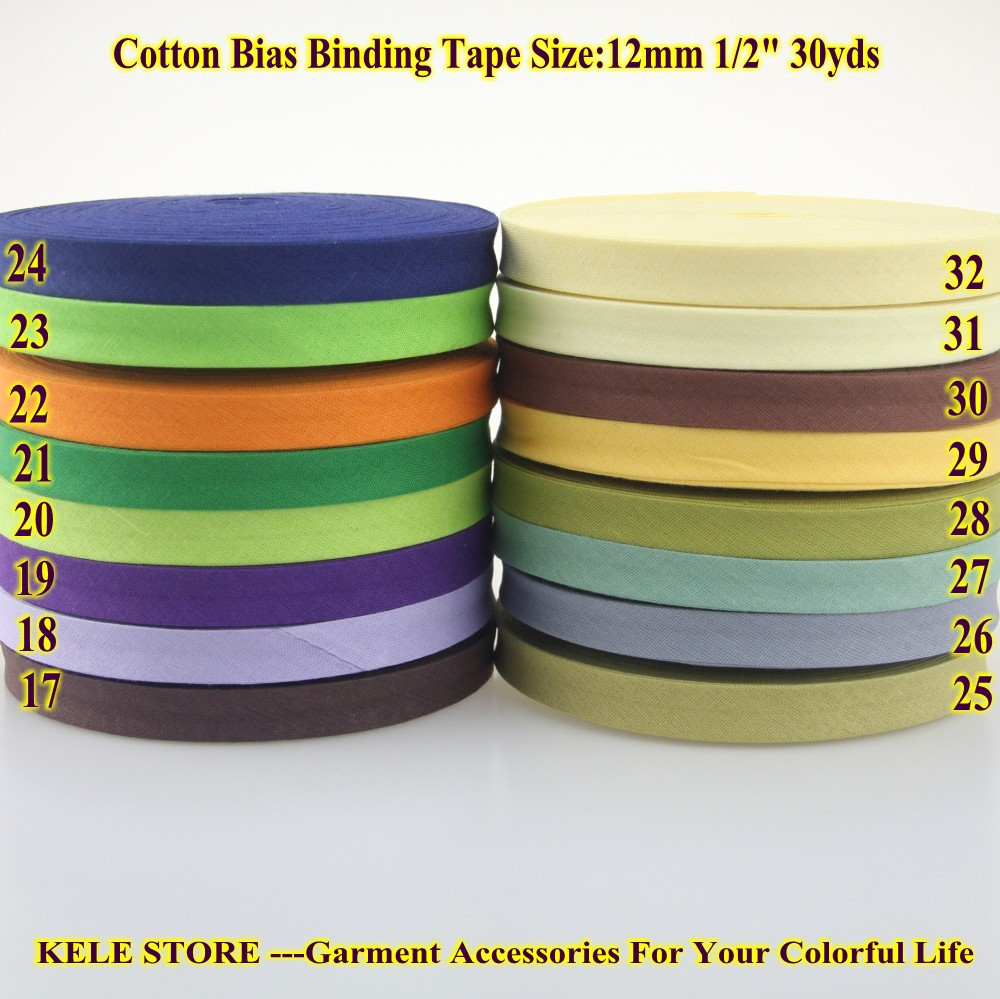 Free Shipping 1lots*30yds Cotton Bias Binding Tape, The