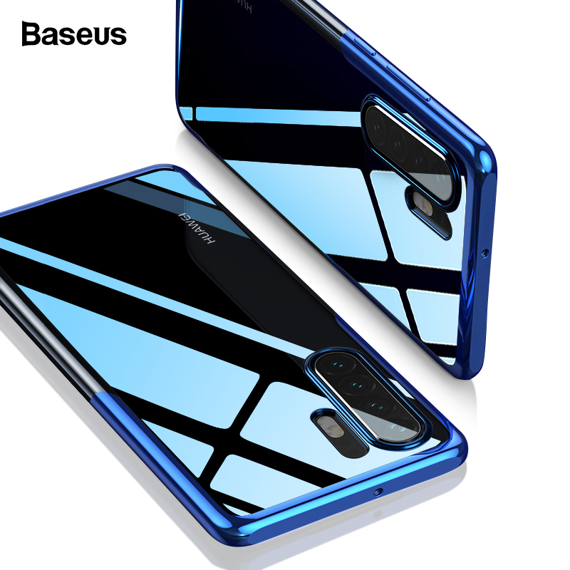 Baseus Luxury Plating Phone Case For Huawei P30 Mate 20 Pro Coque Clear Soft TPU Silicone Back Cover P30Pro Funda