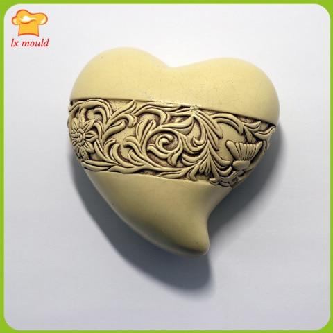 Soulmate original design handmade soap mold silicone candle mold soap wedding hearts chocolate soft silicone mold