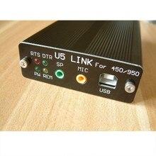 YAESU FT 450D FT 950D DX1200 FT991 U5 링크 + 5 케이블 용 USB PC 링커 어댑터 라디오 커넥터