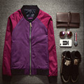 2015 Autumn and Winter Jacket Jacket with Hurry Up, Brother Spell Color Slim Wild Fashion Lovers Coat Tide Purple Orange