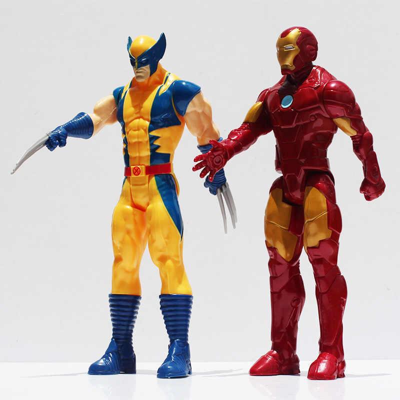 """2 قطعة/الوحدة بطل السوبر X-الرجال الرجل الحديدي عمل الشكل لعبة النادرة PVC دمى لعب 12 """"30 سنتيمتر هدية عظيمة"""