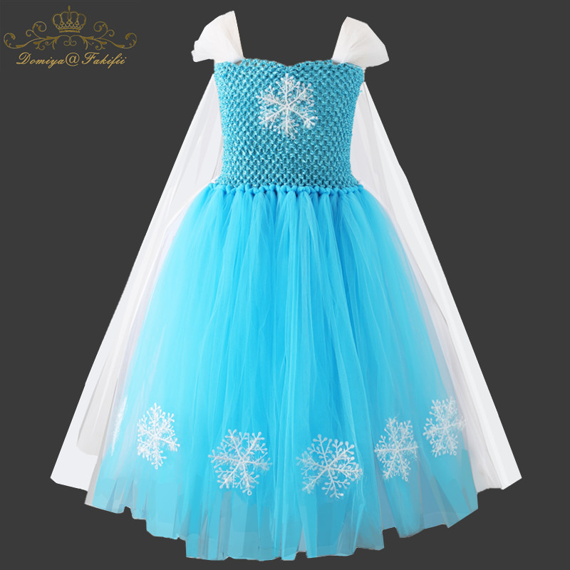 2018 Baby Girl Anna Elsa Dress High-Grade Sequined Princess Cinderella Fancy kids clothes For Party Costume Snow Queen Cosplay new girls anna elsa dress children s dress sequined princess cinderella fancy kids clothes for party costume snow queen cosplay