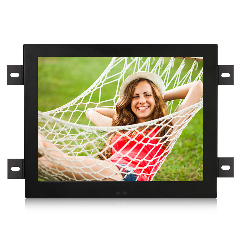 DVI Interface non - touch embedded frame LCD industrial control monitor with 15 inch Metal frame ,1024*768 resolution 15 inch tft lcd monitor 1024 768 open frame monitor with vga dvi interface