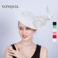 2017 Nieuwe ontwerp 30 CM grote tovenaar hoeden op haar clips bows veils decoratie Vrouwen formele gelegenheid top hoeden party wedding SYF217