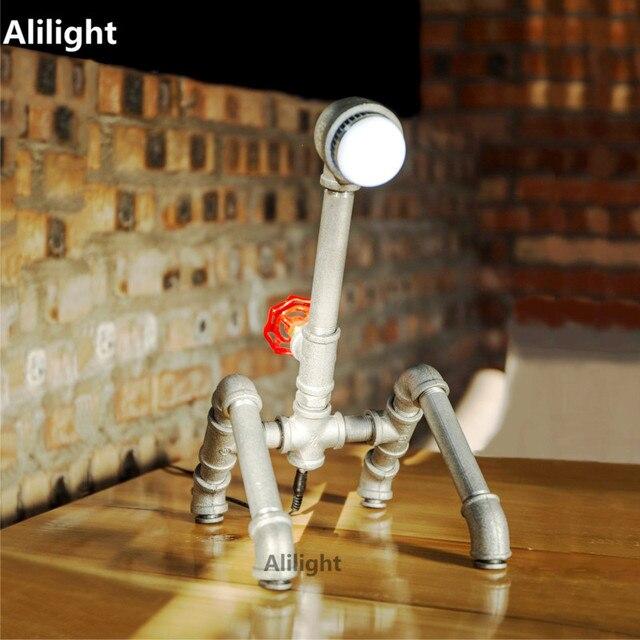 Lamparas Pipe À Eau Lampe de Table Vintage Lampe de Bureau Pour ...