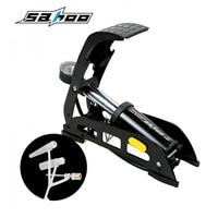自転車ポンプmtbバイクフットエアーポンプポータブル高圧鋼ノースリップポンプでゲージ用自転車車のタイヤ用屋外スポー