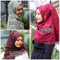 10 Unidades de Algodón Hijab Viscosa Bufanda Maxi Encaje Hijab Floral encaje Mujeres Foulard Chal Robó Wrap Bufanda Principal Musulmán Islam hiyab