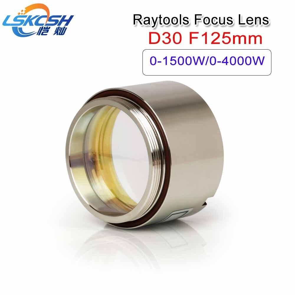 LSKCSH Fiber laser focus lens D30 F125mm with Lens Holder for Raytools laser cutting head BT240/BM110 BT260 BT240S agents want lskcsh fiber laser focusing lens collimator lens d28 f150 200mm for lasermech raytools fiber mini accufiber laser doublet lens