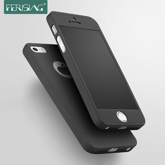 new style 44c8e 8ffd2 Ferising For Apple iPhone SE 5s 5 Case 360 Degree Front Back Full ...