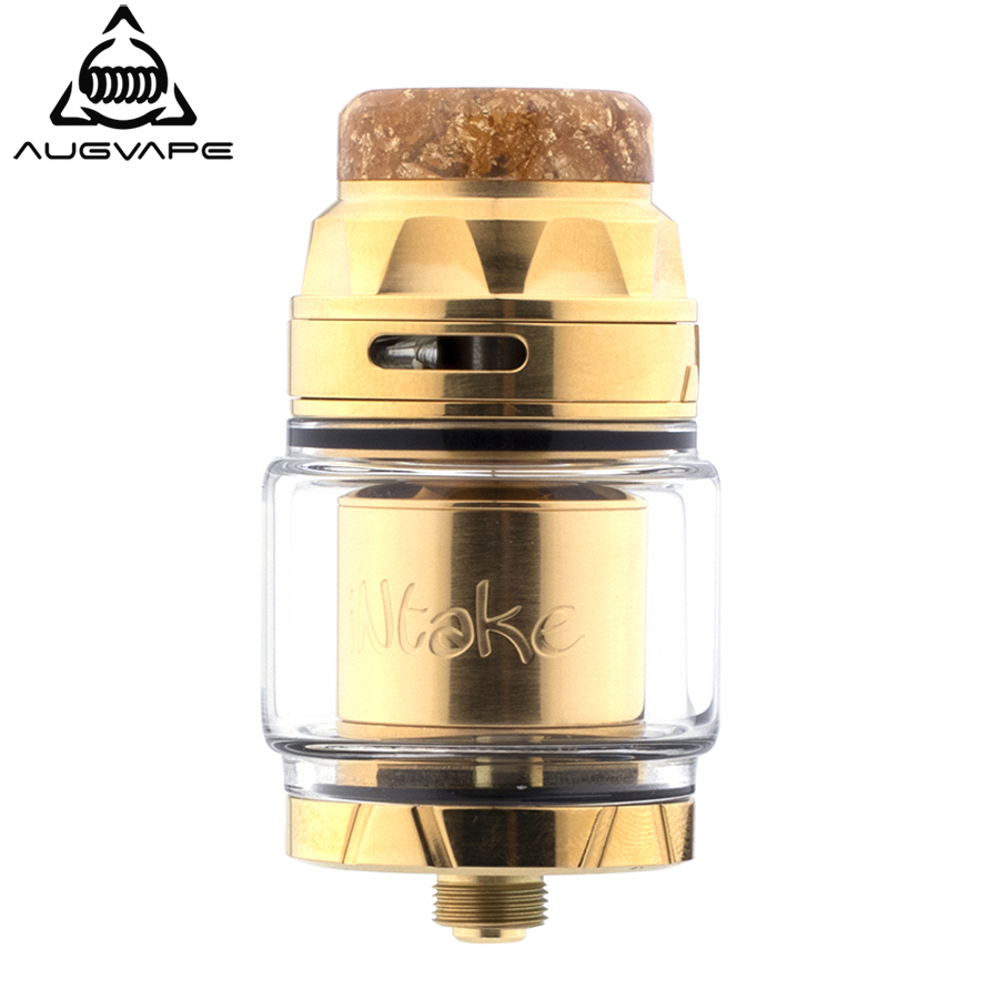 Augvape INTAKE RTA Atomzier 24mm 4.2ml Leak Proof Single Coil RTA With 2 Tubes To Direct The Air Super Easy To Build Vape Tank