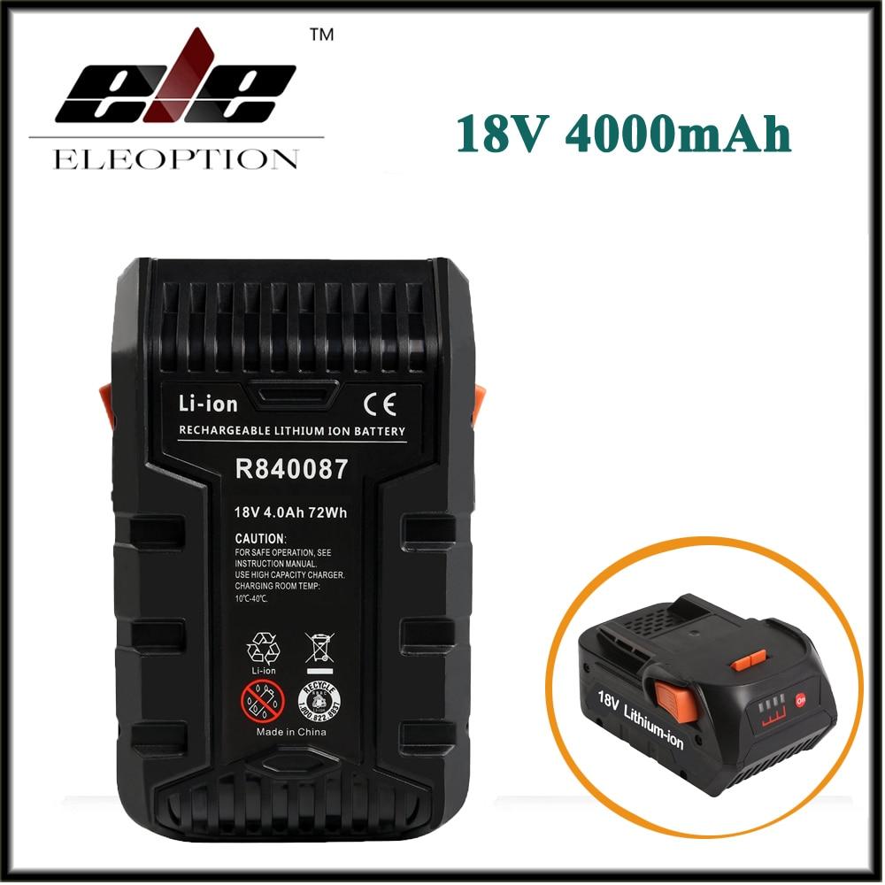 Nova Eleoption 4000 mAh 18 V Li-ion Recarregável Bateria Ferramenta de Poder para RIDGID R840083 R840085 R840086 R840087 Série AEG Series