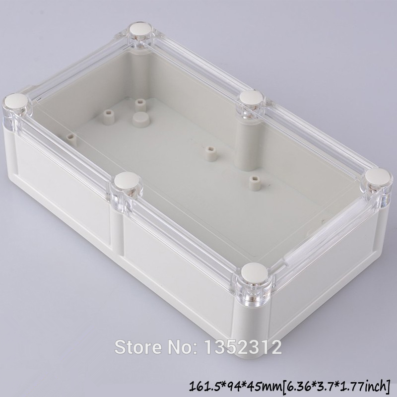 2 pcs/lot 161.5*94*45mm IP68 waterproof plastic enclosure for electronic ABS project box PLC outlet box switch box control box