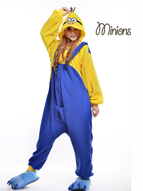 53f04d1dcccb Minion Costume  Plus Size Halloween Costume for Women  Adult Animal Footed  Pajamas  Men s Onesie  Anime Cosplay  Fancy Sleepwear