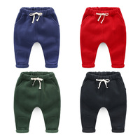 Kz-9613 Baby Solid Color Trousers Winter Clothes Korean New Pattern Catamite Children's Children Catch Down Leisure Time Pants